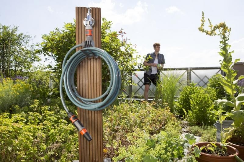 GARDENA Комплект спираловиден маркуч 7.5 м, струйник и конектори City Gardening